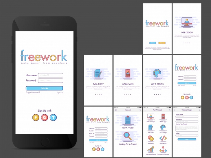 list-screens-application