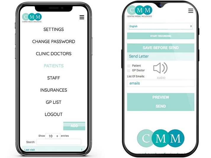 cmm medical voice web app