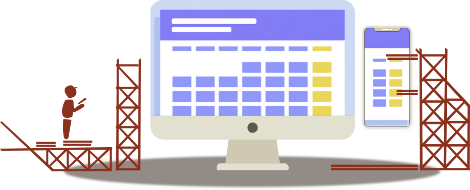online booking system illustration